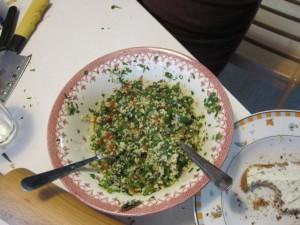 Boulgour Salat mit Petersilie und Minze